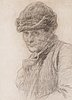 Bruno liljefors, bruno liljefors, charcoal on paper, ca 1890-93, authenticated with rubber stamp from the artist's deceased estate.