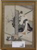 Harunobu, suzuki, hans efterföljare, 2 st, träsnitt, japan, 1800/1900-tal.