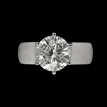 739. A WA Bolin brilliant cut diamond ring, 3.02 cts.