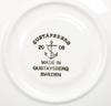 """Kaffekoppar med fat, 6 st, benporslin, """"spisa ribb"""", stig lindberg, gustavsberg, 2000-tal."""