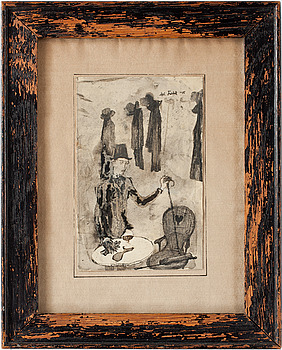6. Axel Fridell, AXEL FRIDELL, Wash and ink on paper, signed and dated -15.
