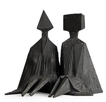 "287. Lynn Chadwick, ""Pair of sitting figures""."