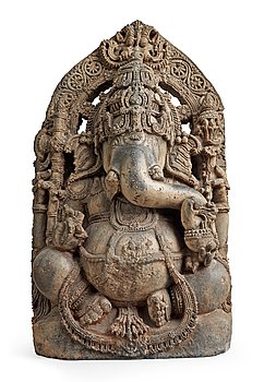 289. A stone figure of Ganesha, India, Karnataka, Hoysala period, 11/12th Century.