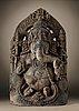 A stone figure of ganesha, india, karnataka, hoysala period, 11/12th century.