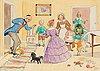 Elsa beskow, petter och lotta tar hand om barnen.