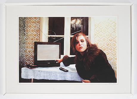 Karin broos, färgoffset, signerad och numrerad 3/20.