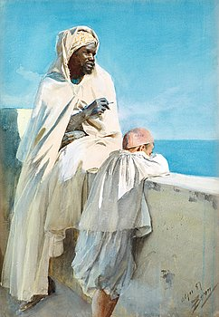 109. Anders Zorn, On the terrace, Algiers.