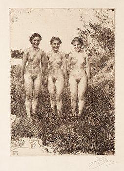 "165. Anders Zorn, ""Three sisters""."