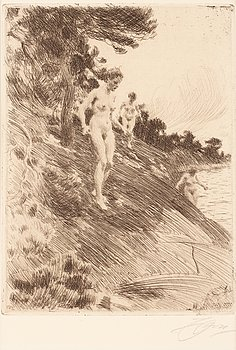 """171. Anders Zorn, """"Frightened""""."""