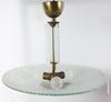Takarmatur, glas och metall, 1920-30-tal. h 56.