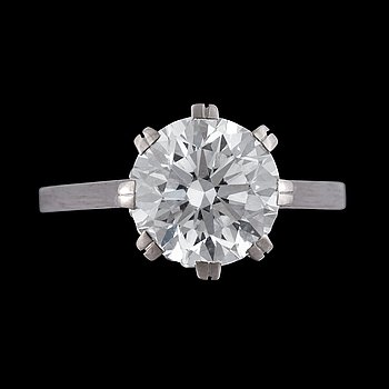 1146. A brilliant cut diamond ring, 3.01 cts.