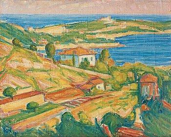 """103. Karl Nordström, """"Villefranche, vin och blomsterodling"""" (Villefranche, wine and flower plantations)."""