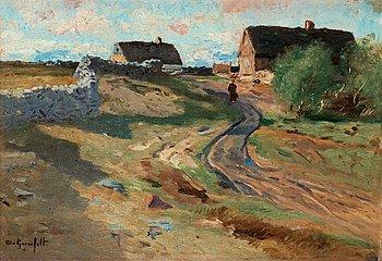 WILHELM VON GEGERFELT, Landscape with wall.