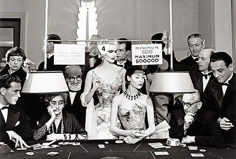 "Richard avedon, ""sunny harnett and alla evening dresses by balmain, casino, le touquet august 1954""."