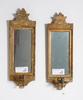 Spegellampetter, ett par, gustavianska varav ena märkt niclas(nils) reding(1779-), jönköping.