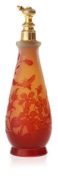921. An Emile Gallé Art Nouveau cameo glass perfume bottle, Nancy, France.