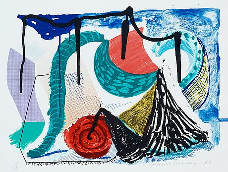 """David hockney, """"catherine's walk"""", from:""""some more new prints""""."""