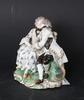 Figurin, porslin, rokokostil.