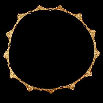 COLLIER, 18k guld, Björn Weckström, Lapponia, Finland, 1900-talets slut. Vikt 33 g.