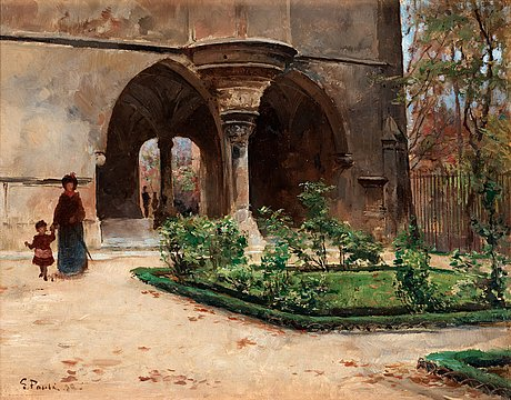 Georg pauli, parkland in paris