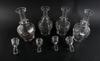 Karaffer med proppar, 4 st, glas, 1800/1900-tal.