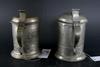 Cylinderstop, 2 st, tenn. p f wigholm(1839-1867), arboga och j p kruth(1789-1807/23) norrköping.