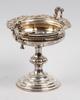 SkÅl pÅ fot, silver, nyrokoko, f.o.a, 1856