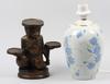 Figurin, porslin resp konstmassa. 1900 tal