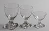 Glasservis, 30 delar, empirestil, 1900 talets första hälft