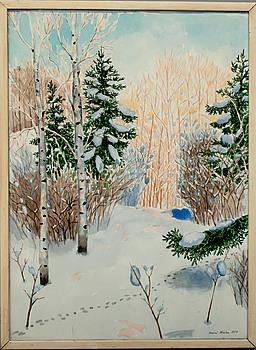 INARI KROHN, akvarell, signerad och daterad -77.