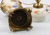 Bordsarmatur, glas och patinerad metall, nyrenässans, 1800/1900-tal.