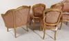 Salongsgrupp, 8 delar, rokokostil, tidigt 1900 tal