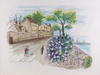 Parti litografier samt tryck, 9 delar, bla astri bergman taube. sign, numr o dat  75