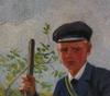 OkÄnd konstnÄr, olja på duk, sign v.h 97.