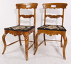 Stolar, ett par, senempire, 1800-talets mitt.
