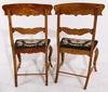 Stolar, ett par, senempire, 1800 talets mitt