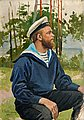 HUGO BACKMANSSON, SAILOR. Sign. 1897. Oil o...