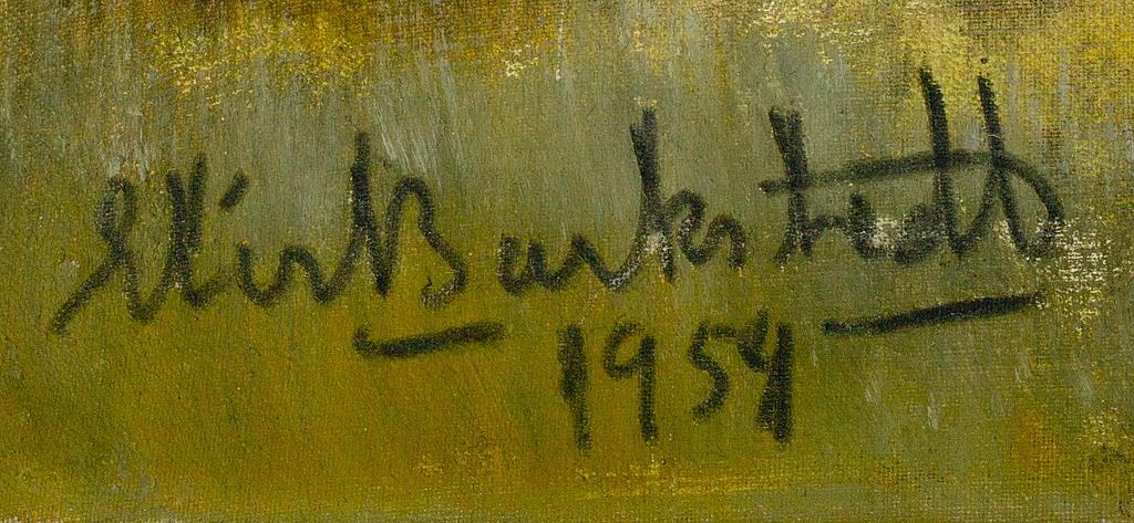 ELIS BARKSTEDT, olja på duk, uppfodrad på masonit, signerad och daterad 1954.