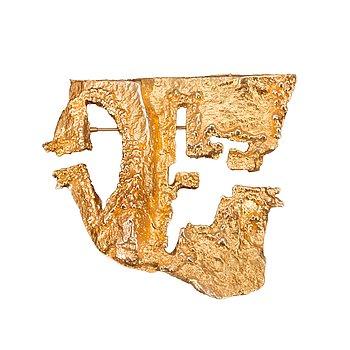 """206. Björn Weckström, A BROOCH, 14K gold, """"Dinosaurus""""  Lapponia 1970."""