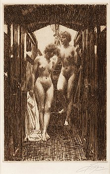 "164. Anders Zorn, ""Cabin""."