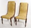 Svanstolar, ett par. 1800-tal.