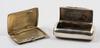 Dosa samt etui, silver, bla sverige sent 1800 tal