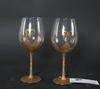 Vinkupor, 2 st, glas och förgylld metall. proveniens: git gay.