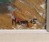 Mason, mats, olja på masonitpannå, sign. o dat. 1965