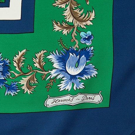 "Hermès, scarf, ""les jardiniers du roy""."