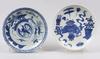 Tallrikar, 2 st, porslin, kina 1800 talets slut