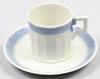 """Kaffekoppar, 12 st, porslin, """"blå vifte"""", royal copenhagen."""