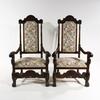 Karmstolar, ett par, barockstil, tidigt 1900-tal.