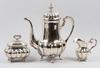 Kaffeservis, 3 delar, silver, importstmpl
