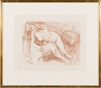 Magnus Enckell, lithograph, signed and dated 1908.